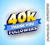 40000 followers banner with... | Shutterstock .eps vector #1969005958