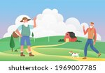 old people greet each other ... | Shutterstock .eps vector #1969007785