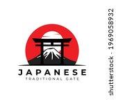 Torii Gate Logo With Fuji...