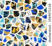 grunge abstract pattern.... | Shutterstock .eps vector #1969071118