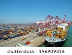 port container terminal | Shutterstock . vector #196909316