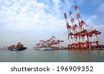 port container terminal | Shutterstock . vector #196909352