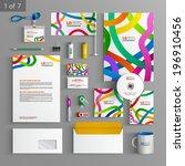 white stationery template... | Shutterstock .eps vector #196910456