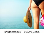 sexy young female at the beach. | Shutterstock . vector #196912256