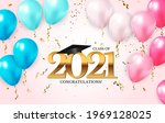 graduation class of 2021 with... | Shutterstock .eps vector #1969128025