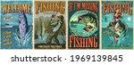 Vintage Fishing Colorful...