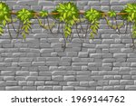 wall  branches liana  ivy....   Shutterstock .eps vector #1969144762