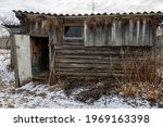 An Old Wooden Utility Shed With ...