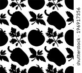 seamless pattern with... | Shutterstock . vector #196917356