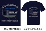 blue lives matter protect ... | Shutterstock .eps vector #1969241668