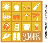 summer flat icons | Shutterstock .eps vector #196925852