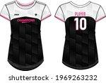 women sports jersey round neck...   Shutterstock .eps vector #1969263232