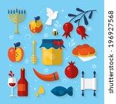 flat vector illustration of... | Shutterstock .eps vector #196927568