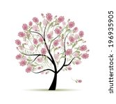 spring tree floral for your... | Shutterstock .eps vector #196935905