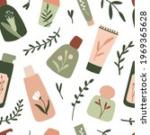 organic cosmetic seamless... | Shutterstock .eps vector #1969365628