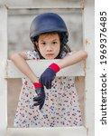 asian school kid girl with... | Shutterstock . vector #1969376485