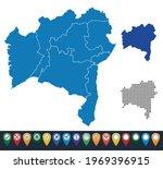 set maps of bahia state   Shutterstock .eps vector #1969396915