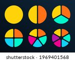 pie chart set with 1 2 3 4 5 6... | Shutterstock . vector #1969401568