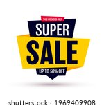 sale banner isolated on white... | Shutterstock .eps vector #1969409908