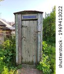 Old Rustic Wooden Toilet In A...