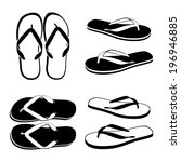 Flip Flops Isolated On A White...