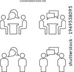 conversation icon set isolated...