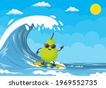 pear characters surfing on wave....   Shutterstock .eps vector #1969552735