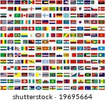flags of all countries of the... | Shutterstock .eps vector #19695664