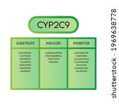 cyp2c9 cytochrome p450 enzyme...   Shutterstock .eps vector #1969638778