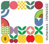 flat minimalist geometric fruit ... | Shutterstock .eps vector #1969661422