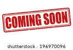 coming soon grunge rubber stamp ... | Shutterstock .eps vector #196970096