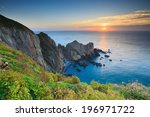a view of the sunset from the... | Shutterstock . vector #196971722