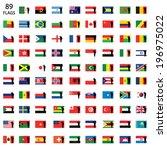 saluting world flag set | Shutterstock . vector #196975022