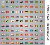 sim card flag set | Shutterstock .eps vector #196975028