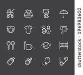baby stuff element vector white ... | Shutterstock .eps vector #196983602