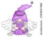 digital paint watercolor gnome...   Shutterstock .eps vector #1969847488