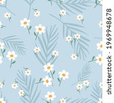 seamless pattern with daisy... | Shutterstock .eps vector #1969948678