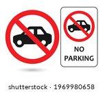 No Parking Sign Icon Vector...