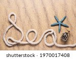 Sea Spelled Out With Nautical...