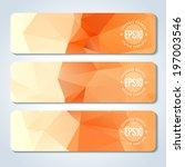 orange website header or banner ...   Shutterstock .eps vector #197003546