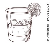 soda or alcoholic drink with...   Shutterstock .eps vector #1970111725