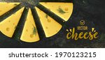 piece of cheese on dark... | Shutterstock .eps vector #1970123215