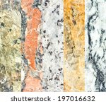 Set Of Five Mineral Textures.