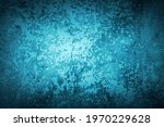 old blue wall in spots  cracks  ...   Shutterstock . vector #1970229628