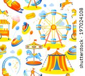 amusement entertainment park... | Shutterstock . vector #197024108