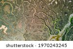 Aerial View Of Marshland In...