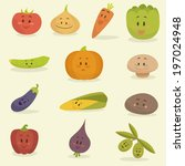 funny cartoon vegetables vector ...