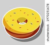 delicious donut sticker. no... | Shutterstock .eps vector #1970251678
