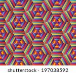 seamless geometric pattern.... | Shutterstock .eps vector #197038592