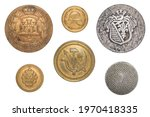 Vintage buttons isolated ...